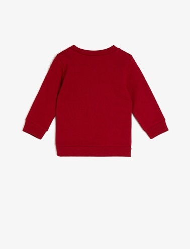 Koton Kids Yazılı Baskılı Sweatshirt Kırmızı